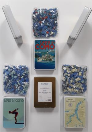 puzzle manifesti del Lago di Como